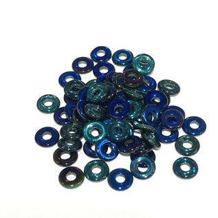 Czech O Beads Emerald Azuro 5g