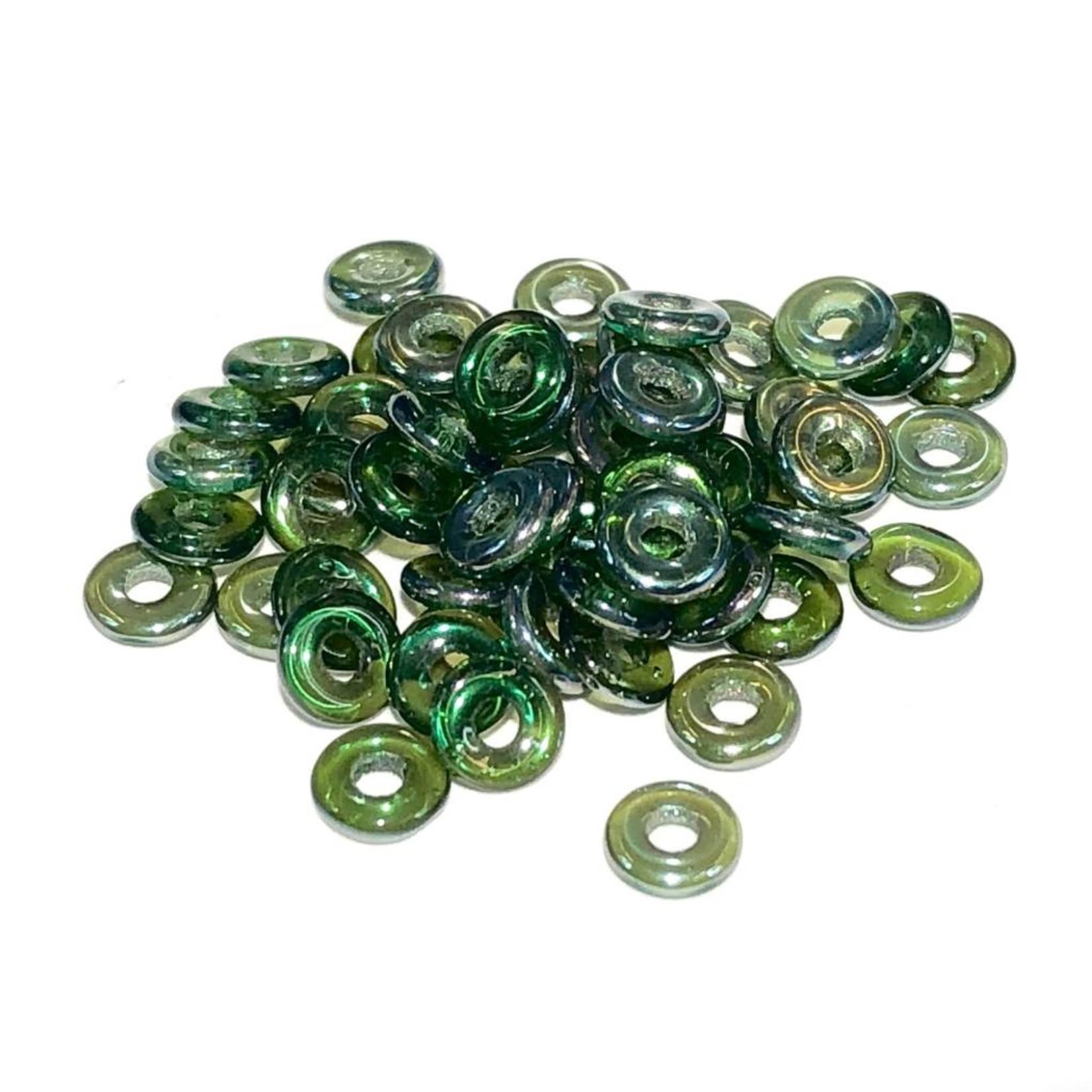 Czech O Beads Emerald Celsian 5g