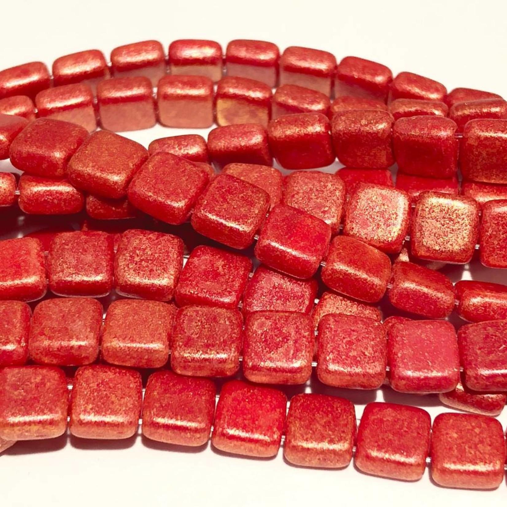 CzechMates TILE Red Antique Shimmer