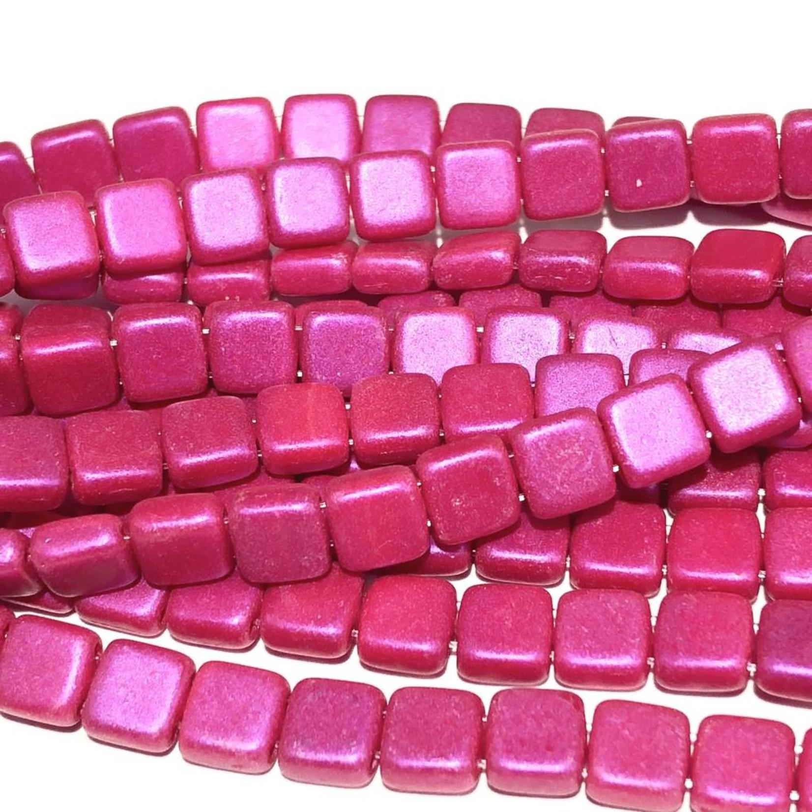 CzechMates TILE Opalescent Neon Pink