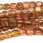 CzechMates TILE Transparent Gold/Smokey Topaz