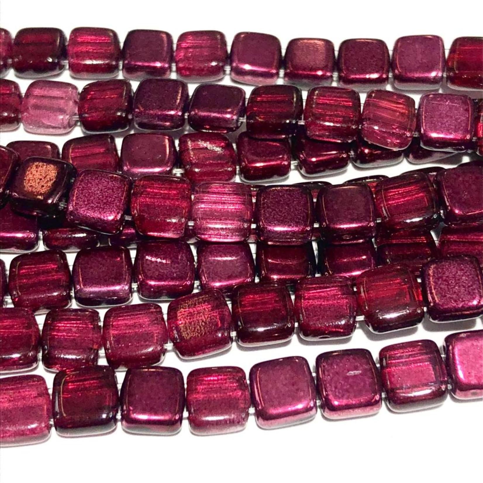 CzechMates TILE Cranberry Mirror