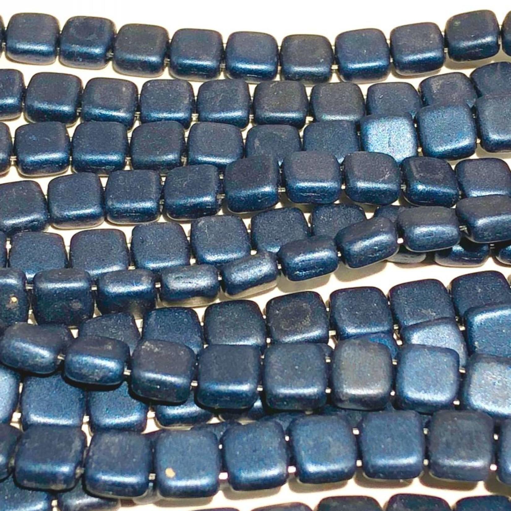 CzechMates TILE Metallic Suede Dark Blue