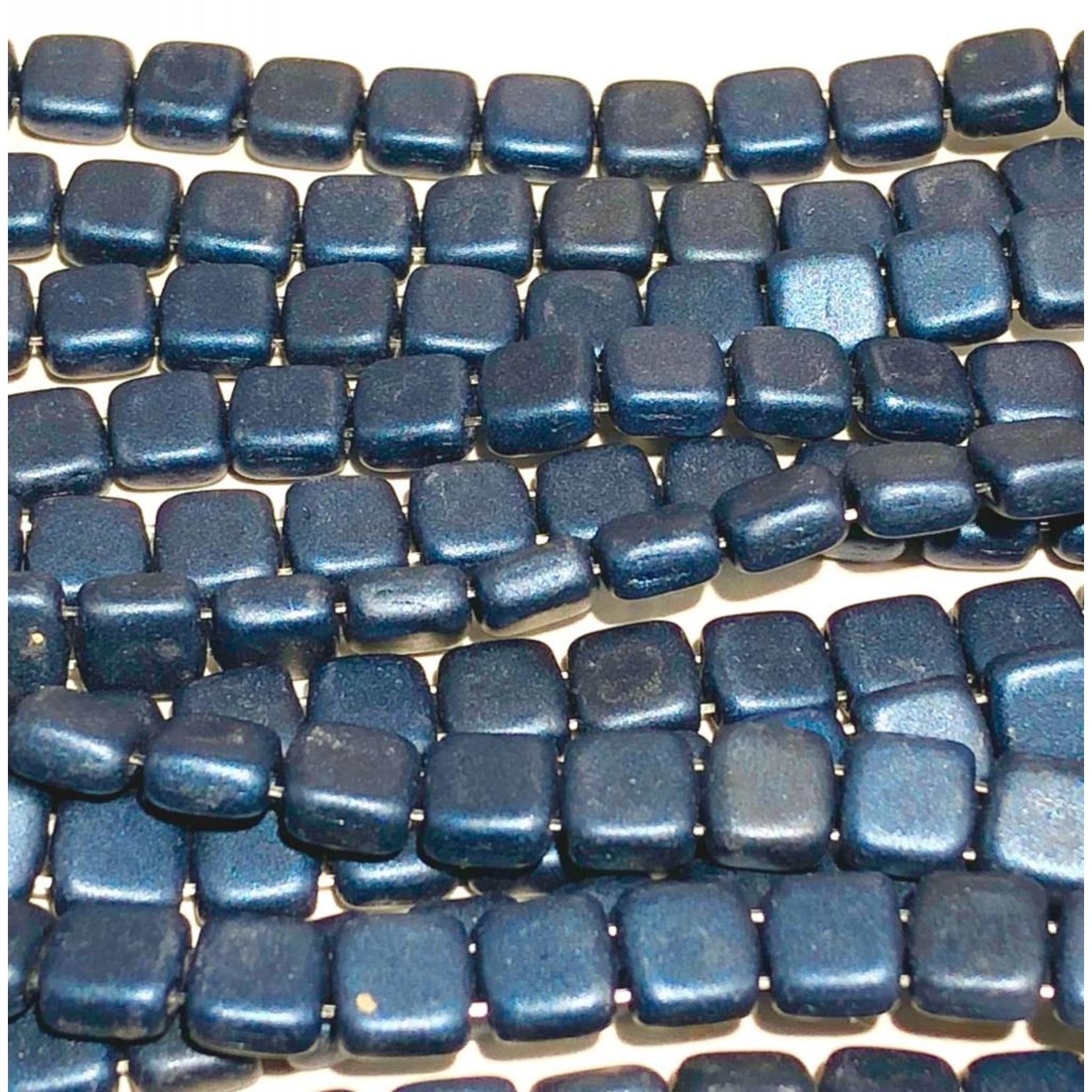 CzechMates CzechMates TILE Metallic Suede Dark Blue