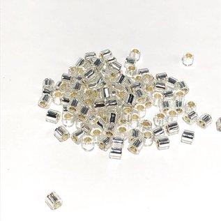 MIYUKI Delica 8-0 Silver Lined Crystal 10g