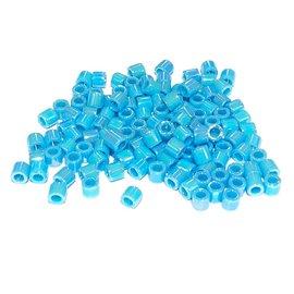 MIYUKI Delica 8-0 Opaque Turquoise Blue AB 10g