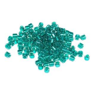 MIYUKI Delica 8-0 Spkl Turquoise Lined Crystal 10g