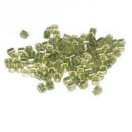 MIYUKI Delica 8-0 Spkl Peridot Lined Crystal 10g