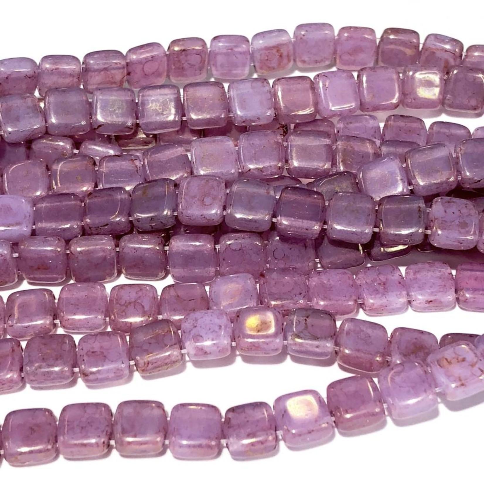 CzechMates CzechMates TILE Pink/Topaz Lstr Milky Alexandrite