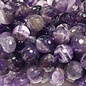 Chevron Amethyst Natural 8mm Faceted