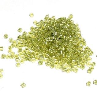 MIYUKI Delica 10-0 Spkl Peridot Lined Crystal 10g