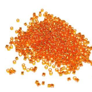 MIYUKI Delica 11-0 Silver Lined Orange 10g