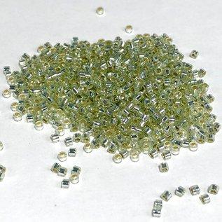 MIYUKI Delica 11-0 Silver Lined Pale Moss Green 10g