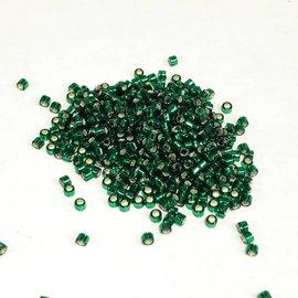 MIYUKI Delica 11-0 Silver Lined Dark Green 10g