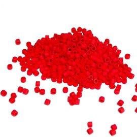 MIYUKI Delica 11-0 Dyed Matte Bright Red 10g