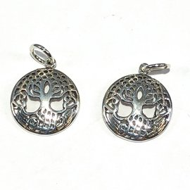 Sterling Silver Celtic Tree of Life Charm 12mm