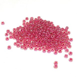 MIYUKI Rocaille 8-0 Lined Hot Pink Crystal AB 25g
