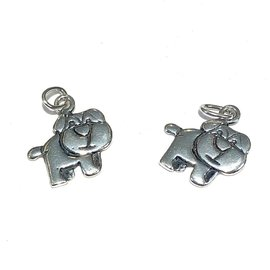 Sterling Silver Puppy Mini Charm 10x13mm