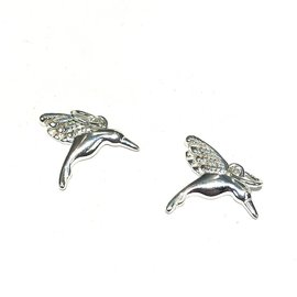 Sterling Silver Hummingbird Mini Charm 16x13mm