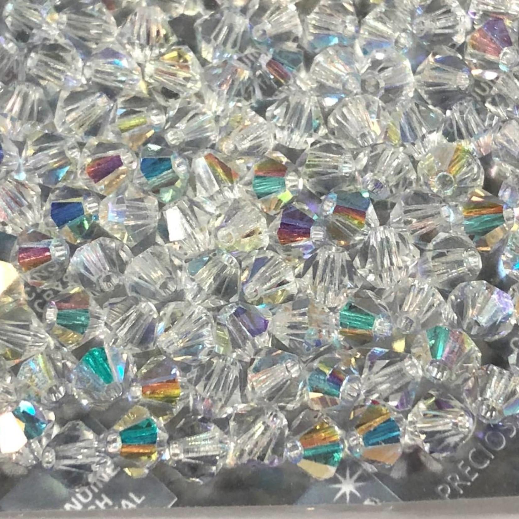 Preciosa Crystal 4mm Bicone Crystal AB 144pcs