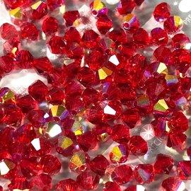 Preciosa Crystal 4mm Bicone Light Siam AB 144pcs
