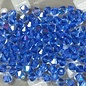 Preciosa Crystal 4mm Bicone Sapphire AB 144pcs