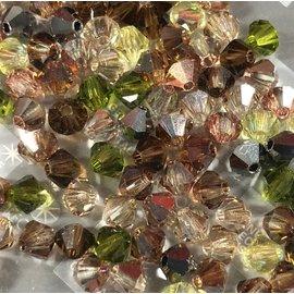 Preciosa Crystal 4mm Bicone MIX Artistic Impression 144pcs