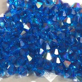 Preciosa Crystal 4mm Bicone Capri Blue AB 144pcs