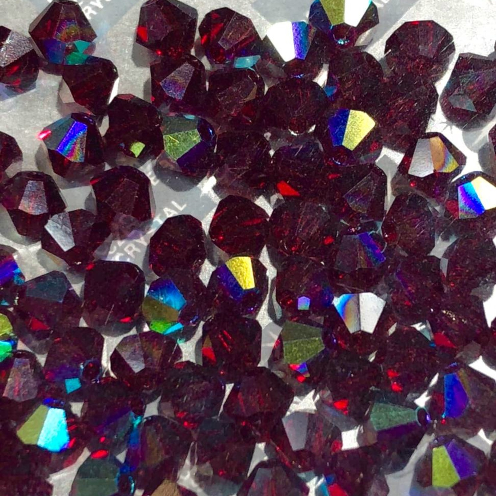 Preciosa Crystal 4mm Bicone Siam AB 144pcs