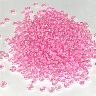 MIYUKI Rocaille 8-0 Pink Lined Crystal 25g