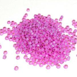 MIYUKI Rocaille 8-0 Dyed Pink / Lt Yellow S/L Alab 25g