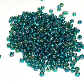 MIYUKI Rocaille 8-0 Silver Lined Emerald AB 25g