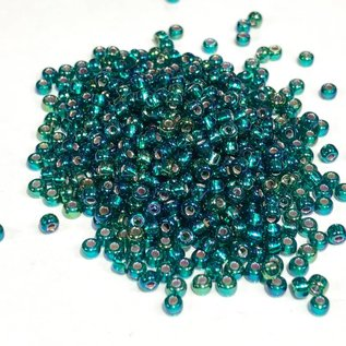 MIYUKI Rocaille 8-0 Silver Lined Emerald AB 25g