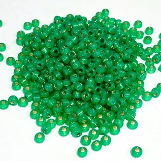 MIYUKI Rocaille 8-0 Green Silver Lined Alabaster 25g