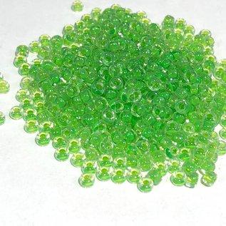 MIYUKI Rocaille 8-0 Green Lined Crystal 25g