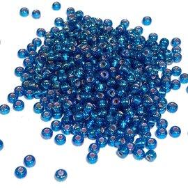 MIYUKI Rocaille 8-0 Silver Lined Capri Blue AB 25g