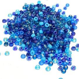 MIYUKI Rocaille 8-0 Mix Blue Tones 25g