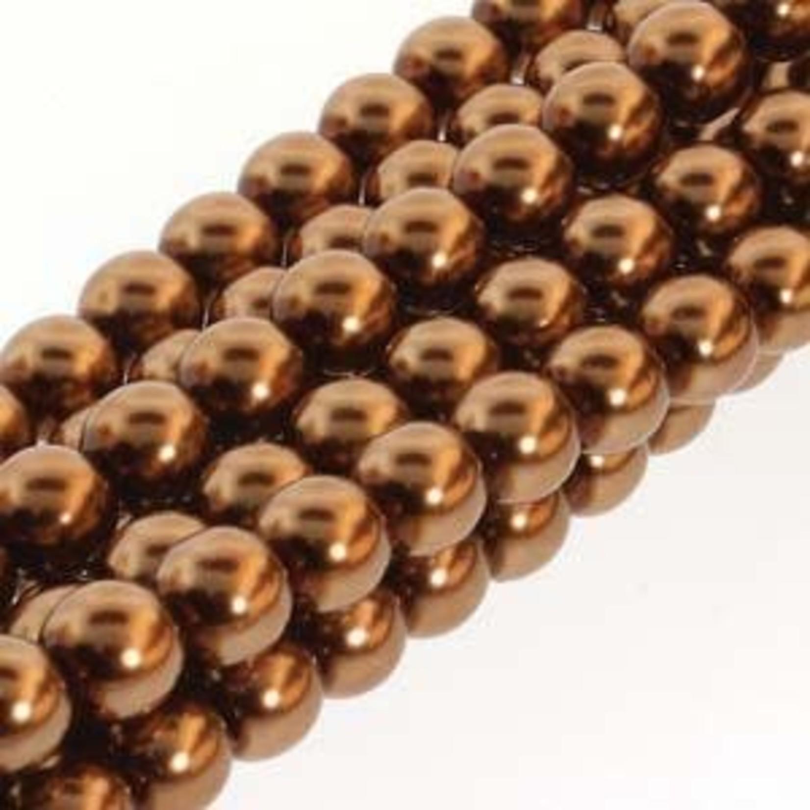 PRECIOSA Crystal Pearls 3mm Antique Gold 150Bd
