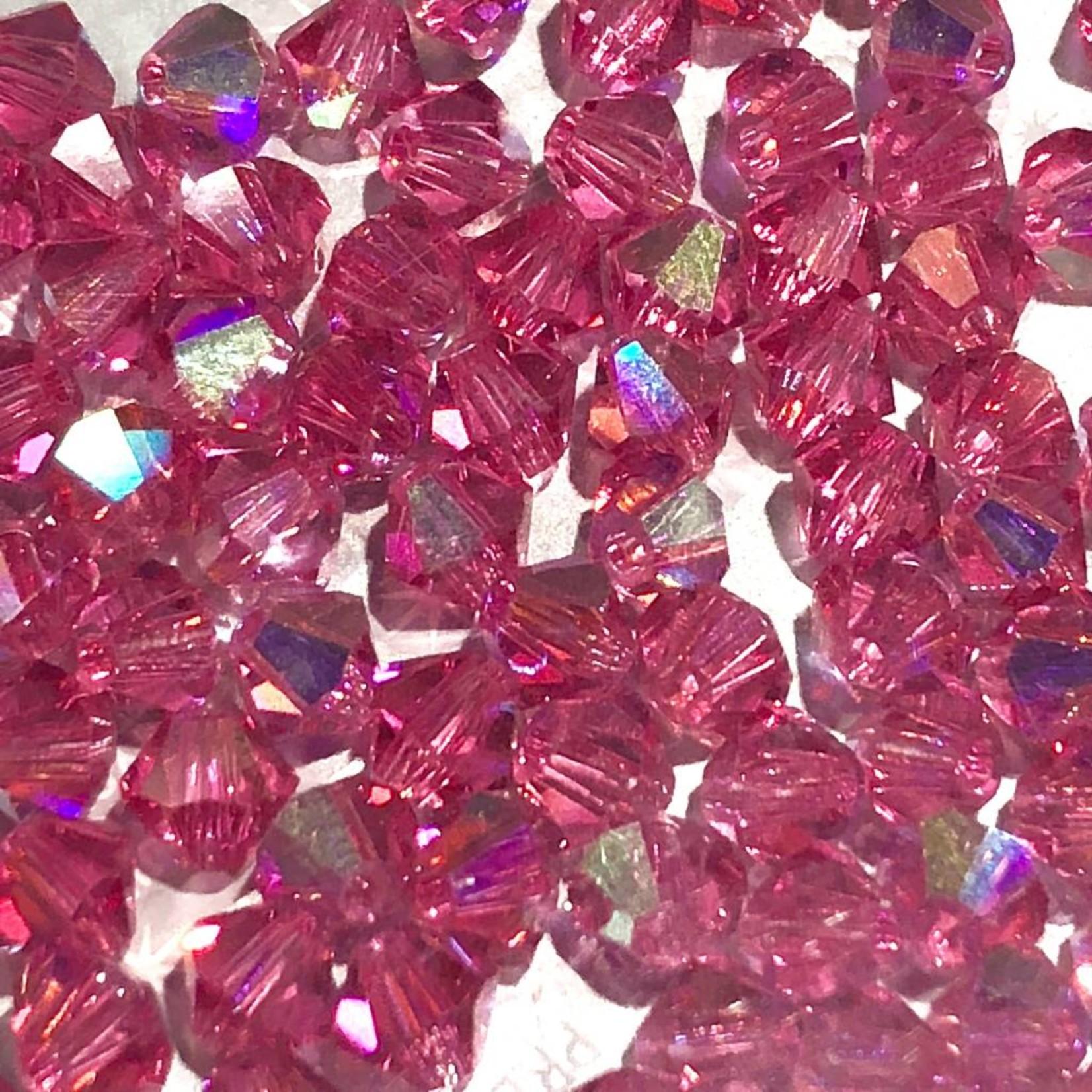 Preciosa Crystal 4mm Bicone Rose AB 144pcs