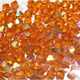 Preciosa Crystal 4mm Bicone Sun AB 144pcs