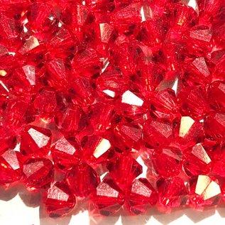 Preciosa Crystal 4mm Bicone Light Siam 144pcs