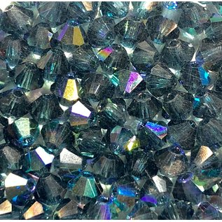 Preciosa Crystal 4mm Bicone Montana AB 144pcs