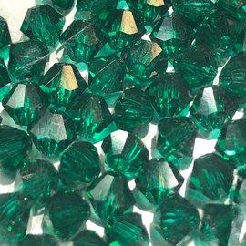 Preciosa Crystal 4mm Bicone Emerald 144pcs