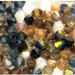 Preciosa Crystal 4mm Bicone MIX Pebblestone 144pcs