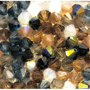 Preciosa Crystal 4mm Bicone MIX Pebblestone 144pcs