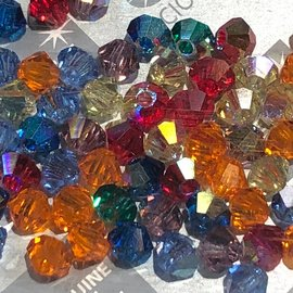 Preciosa Crystal 3mm Bicone MIX Rainbow AB 144pcs