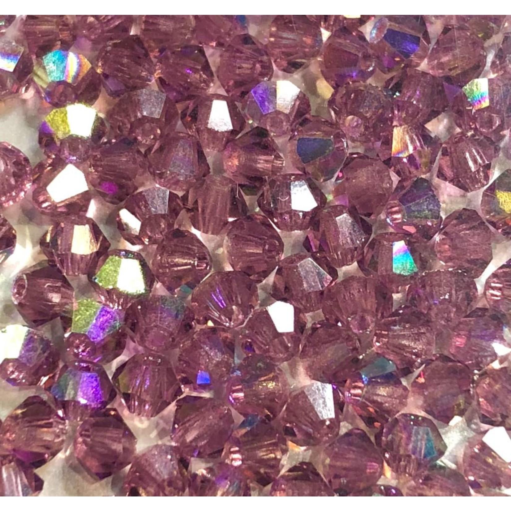 Preciosa Crystal 3mm Bicone Amethyst AB 144pcs