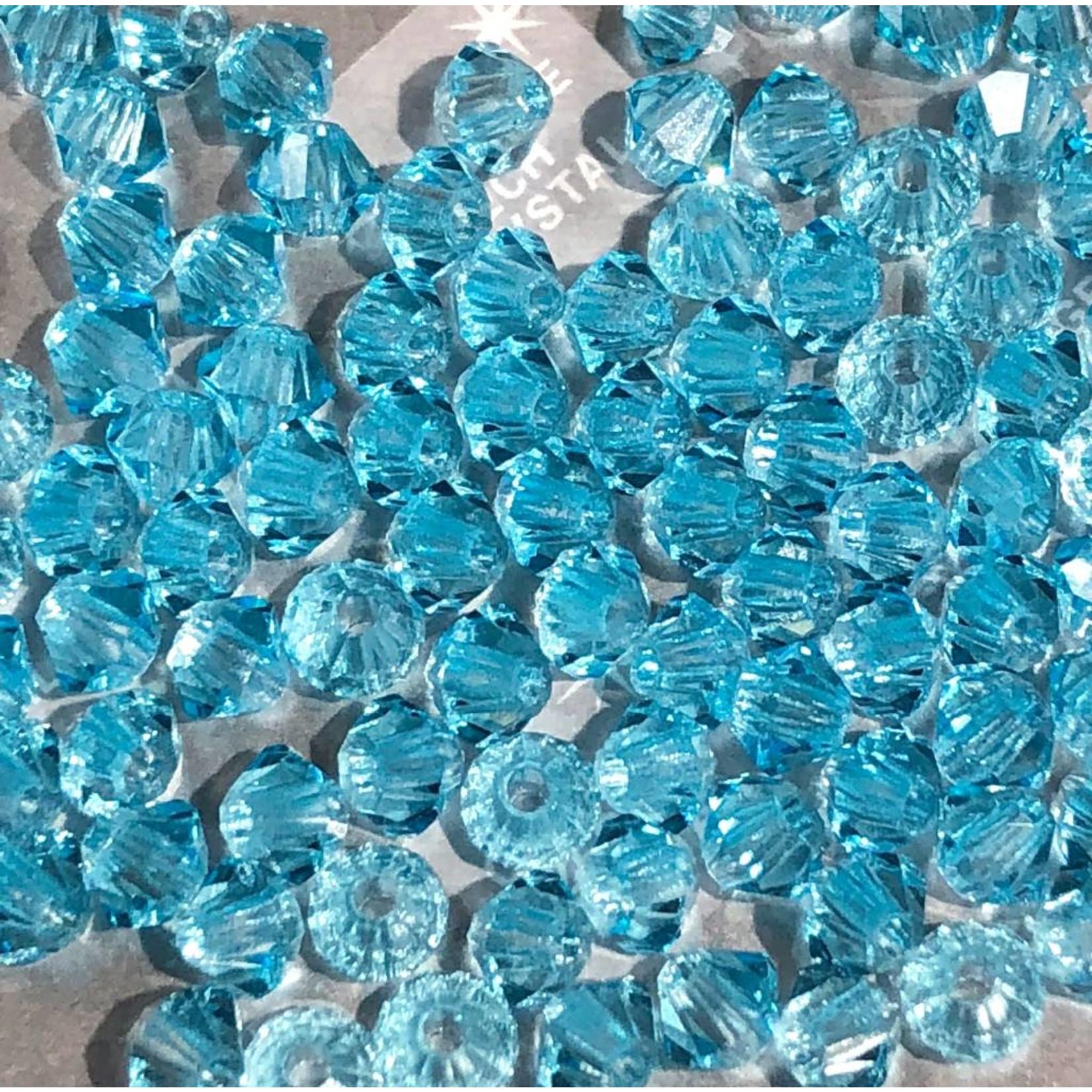 Preciosa Crystal 3mm Bicone Aqua Bohemica 144pcs