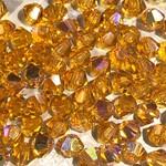 Preciosa Crystal 3mm Bicone Topaz AB 144pcs
