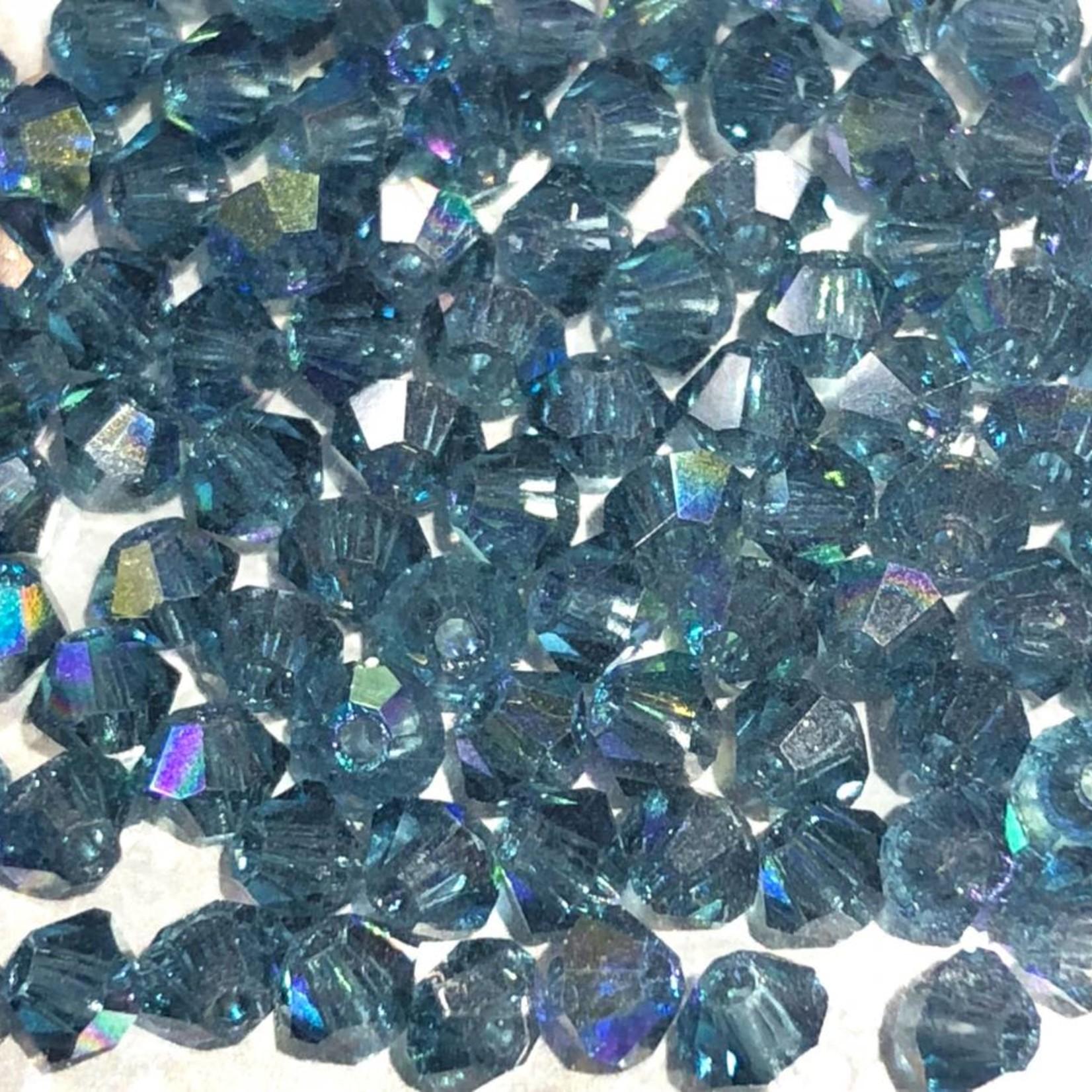 Preciosa Crystal 3mm Bicone Montana AB 144pcs